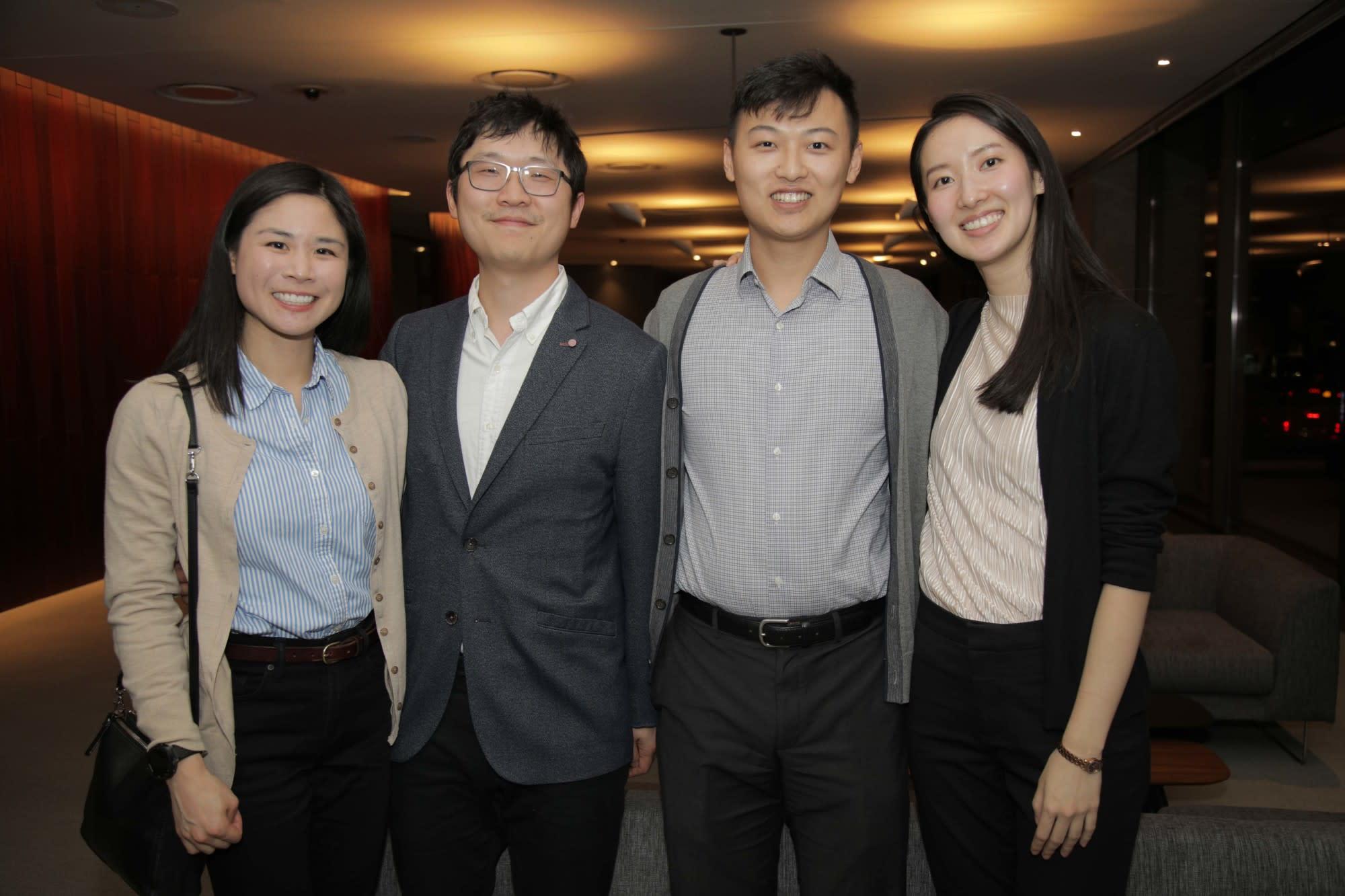 Liana and Joseph Lim, Zeheng Wang and Catherine He