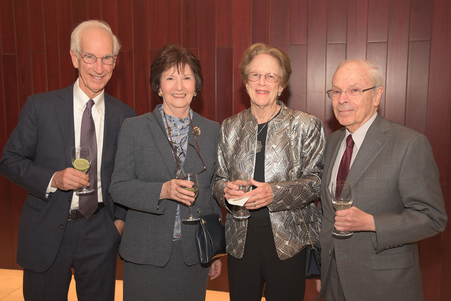 Irv Flinn, Elaine Weiler, Elizabeth Flinn, Board member Alan Weiler