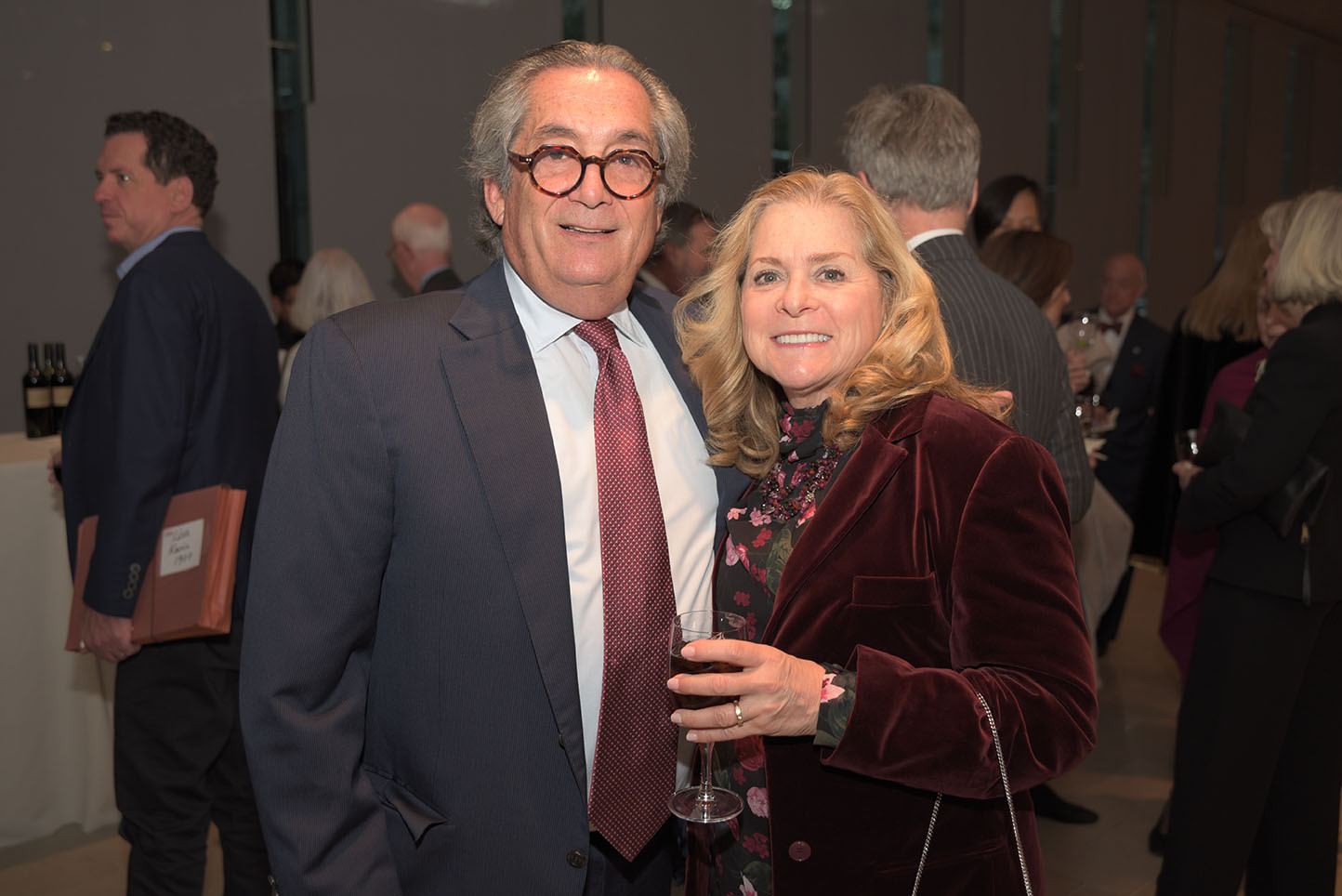 Jeffery Cohen, Board member Beth Sackler