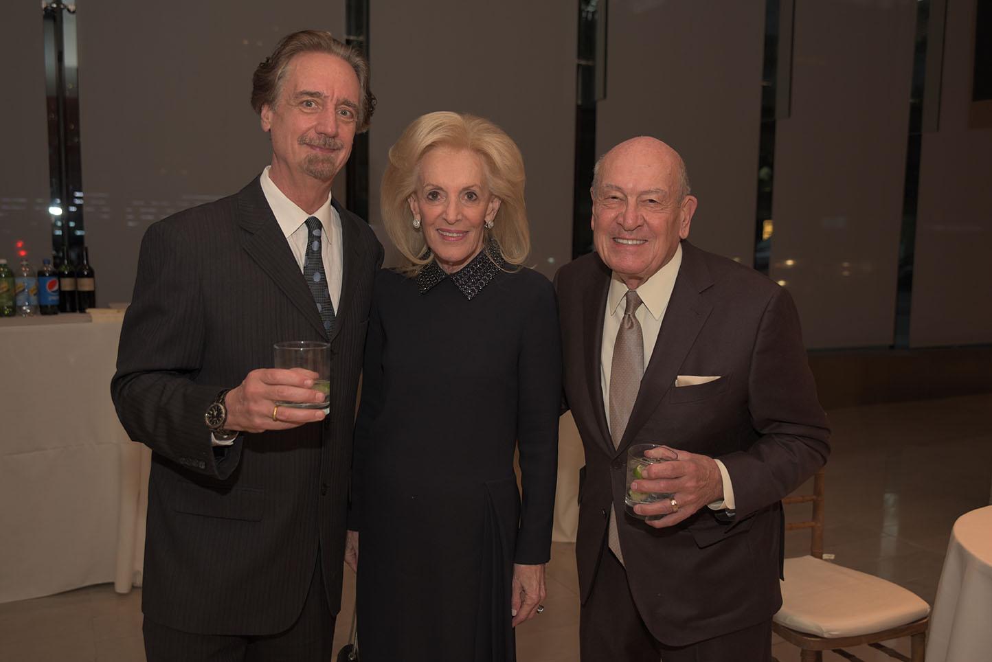 David Finckel, Board member Annette Rickel, John Leone
