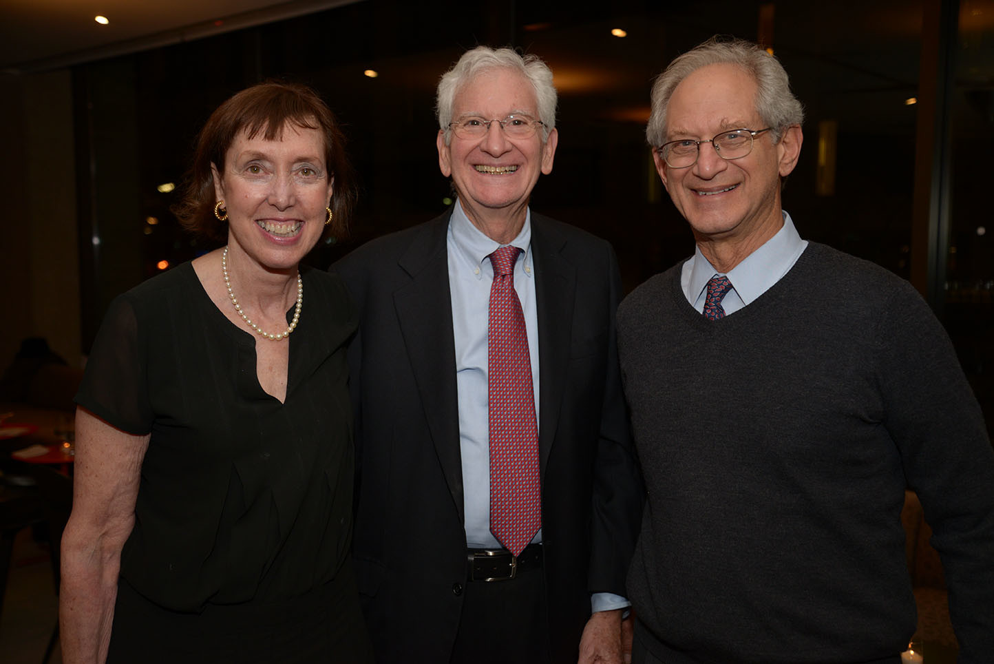 Suzanne Davidson, Board member William Ginsberg, and guest