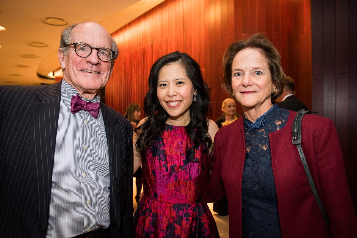 Edwin Williamson, Gloria Chien, Board member Kathe Williamson