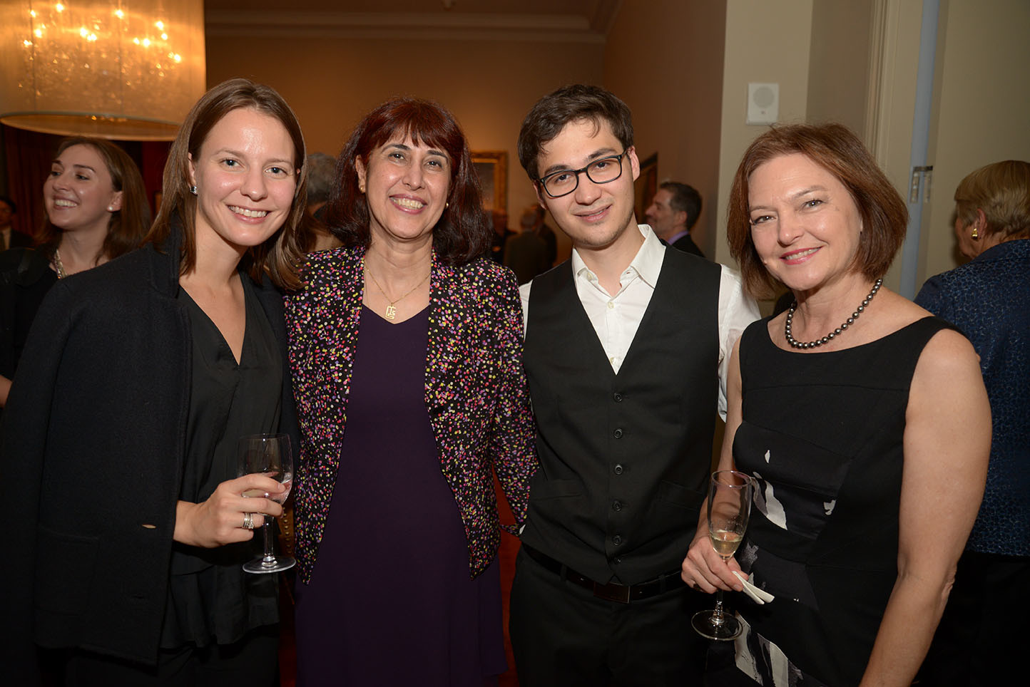 Shelley Pyers, CMS Board Member Nasrin Abdolali, Mark Schumann, Global Council Member Suzanne Vaucher