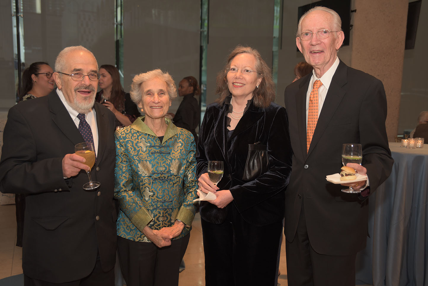Global Council member Morris Rossabi, Mary Rossabi, Nell Dillon-Ermers, Global Council member Howard Dillon