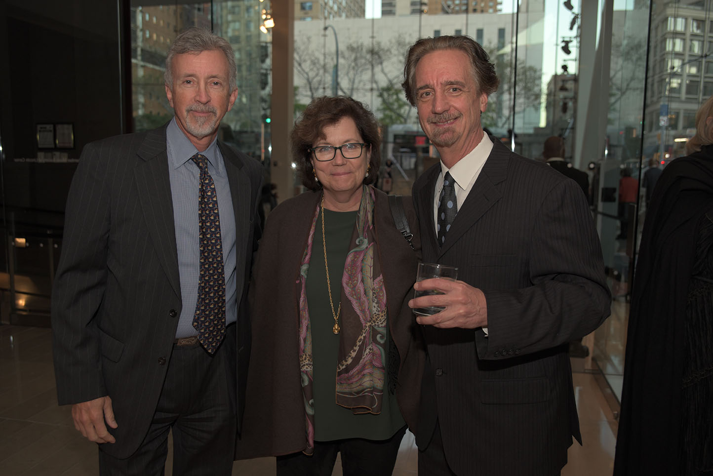 Board member John Lindsey, Julie Lindsey, Artistic Director David Finckel