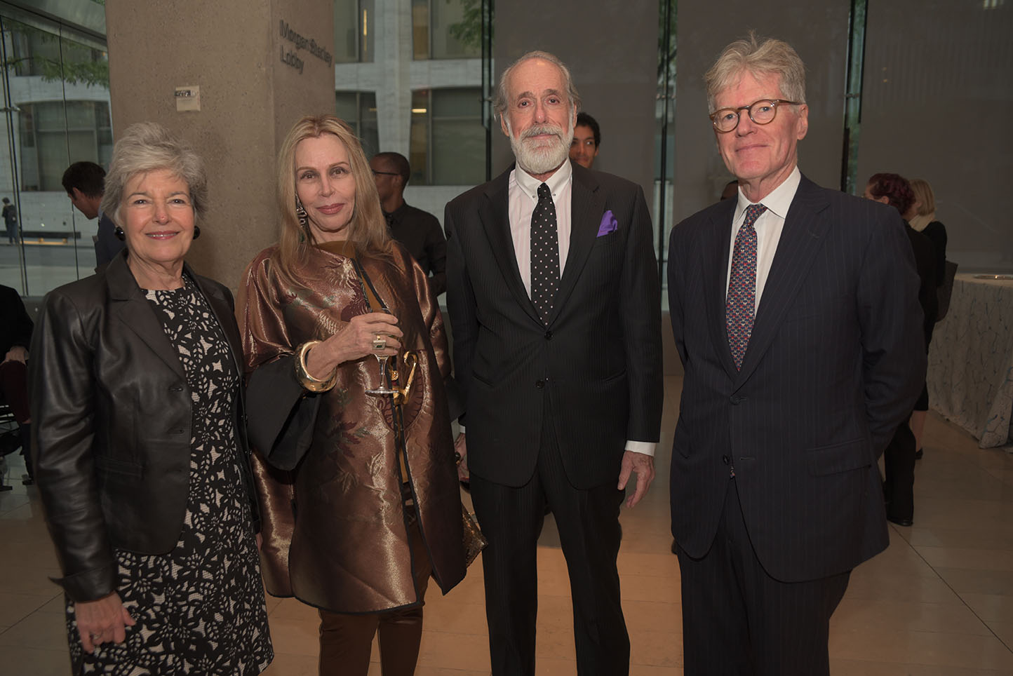 Board member Sally Clement, Global Council member Sassona Norton, Ron Filler, Stephen Clement