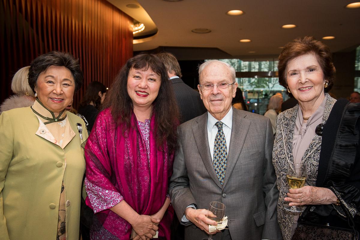 Shirley Young, Wu Han, Board member Alan Weiler, Elaine Weiler