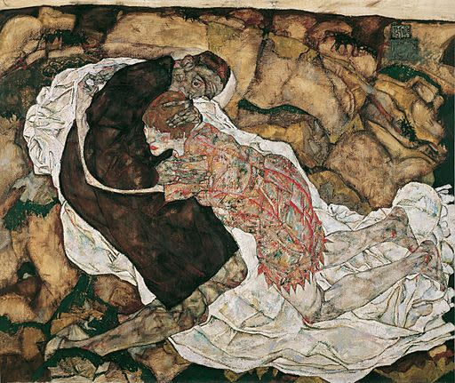 Death and the Maiden by Egon Schiele