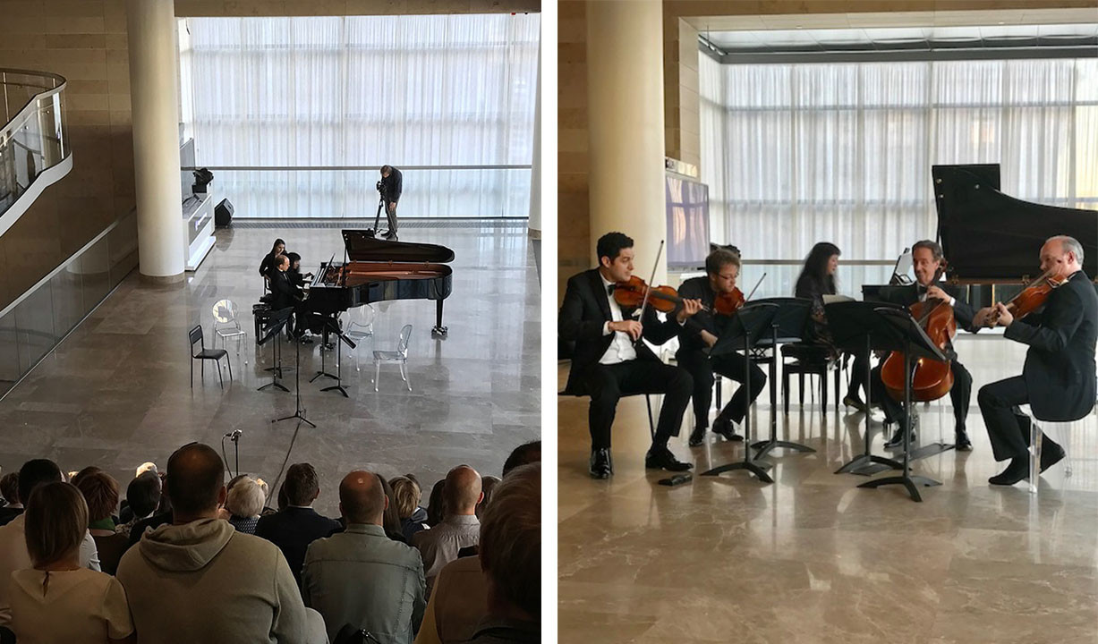 CMS Artists performing in the Stravinsky Foyer