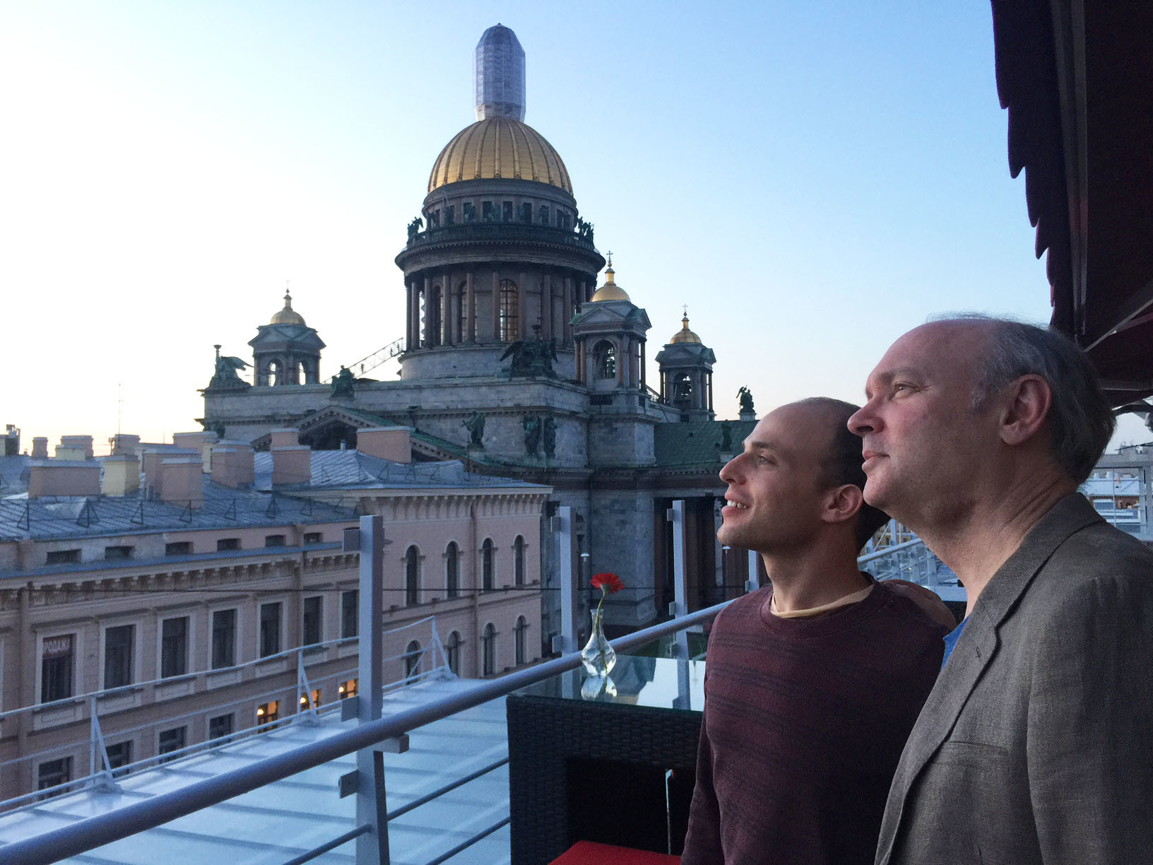 Orion Weiss and Paul Neubauer admiring St. Petersburg