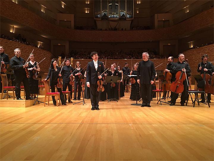 Paul Huang performing at Mariinsky Concert Hall with Maestro Valery Gergiev