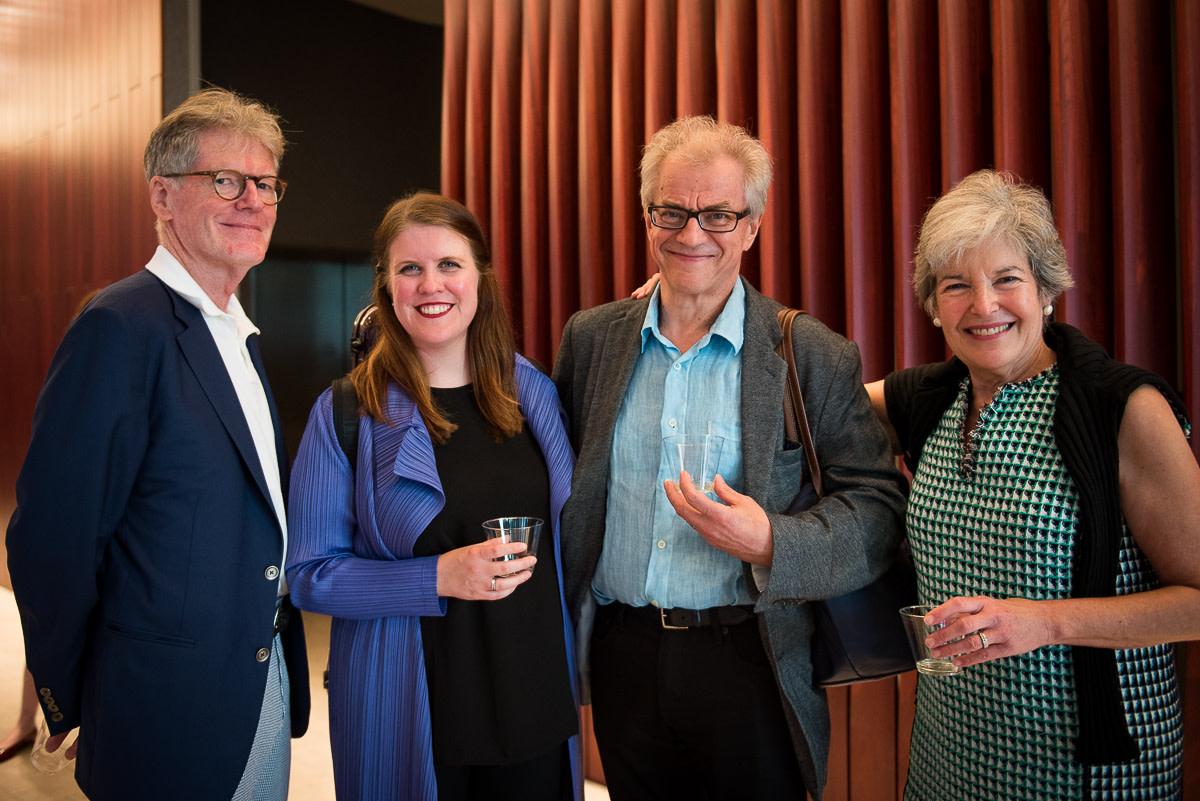 Stephen Clement, Erin Keefe, Osmo Vänskä, Board member Sally Clement