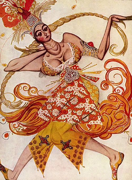 The Firebird, ballet costume, 1910, by Léon Bakst