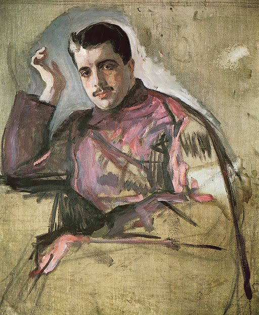 Sketch of Sergey Diaghilev by Valentin Serov