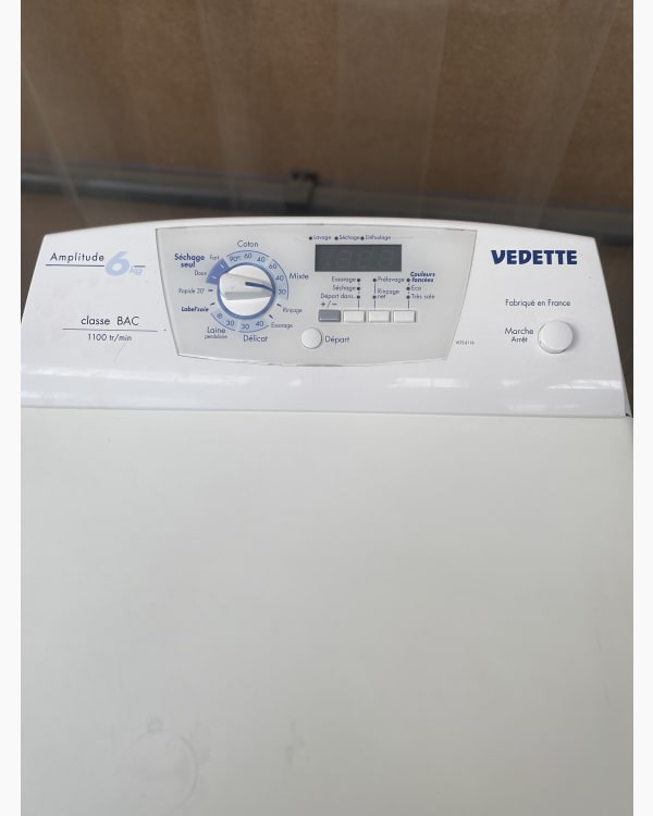 Lave-linge Ouverture par le haut Vedette WTD1076F 4
