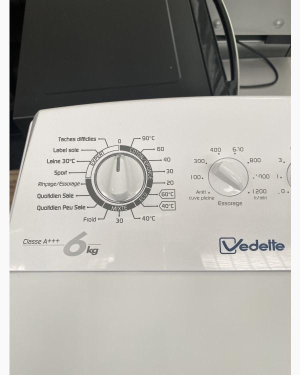Lave-linge Ouverture par le haut Vedette VLT612EX-01 3