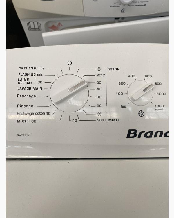 Lave-linge Ouverture par le haut Brandt BWT3613T-F/01 3