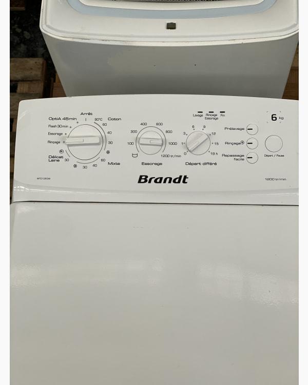 Lave-linge Ouverture par le haut Brandt WTC1260W-F/02 2