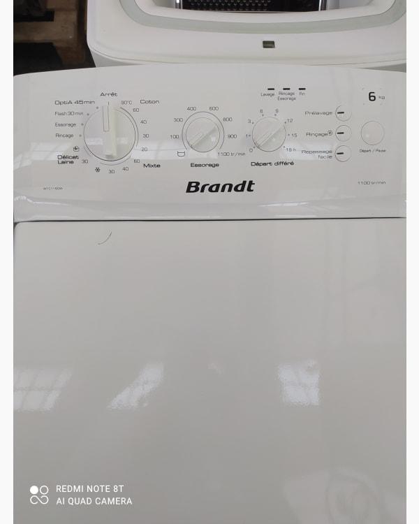 Lave-linge Ouverture par le haut Brandt WTC1160W-F/03 2