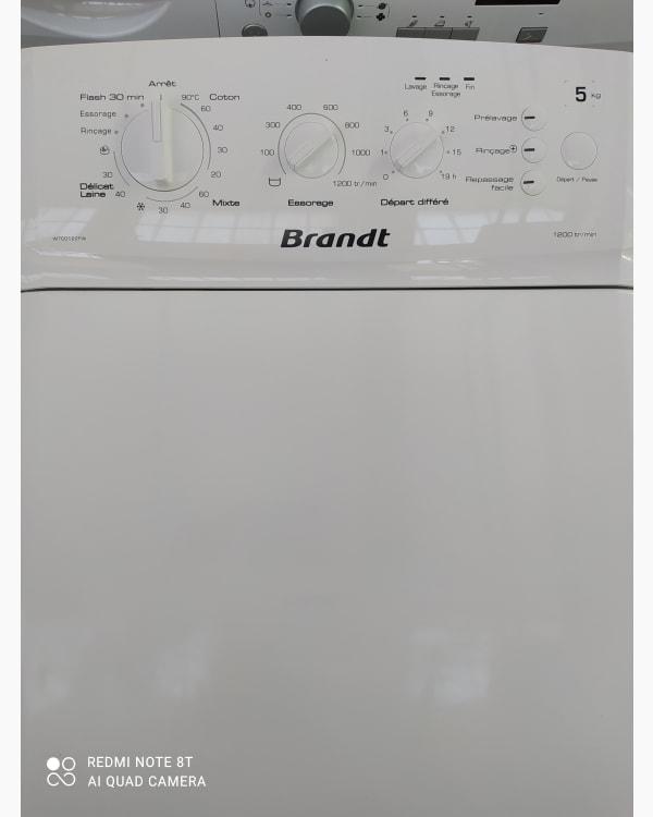 Lave-linge Ouverture par le haut Brandt Wtc0122fw/03 2
