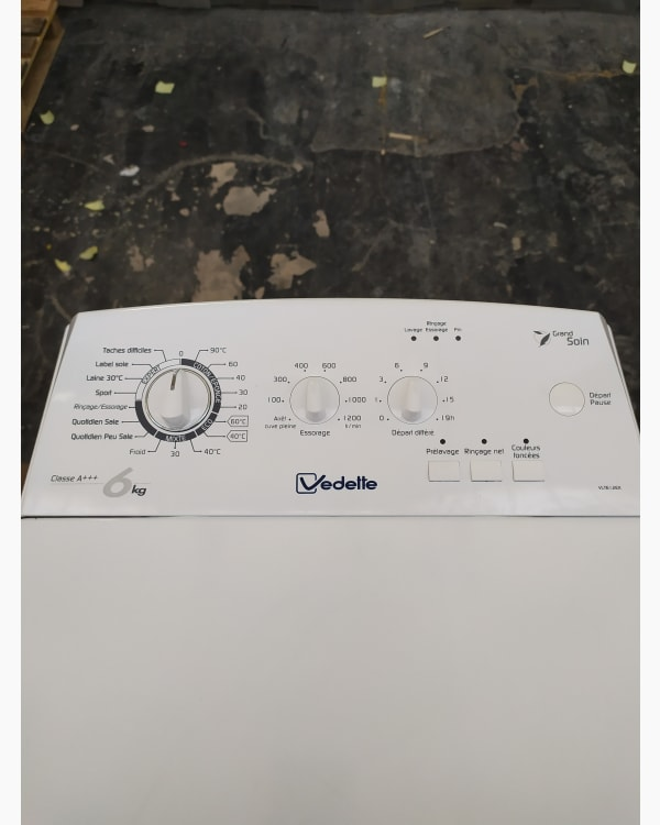 Lave-linge Ouverture par le haut Vedette Vlt612ex-f/01 3