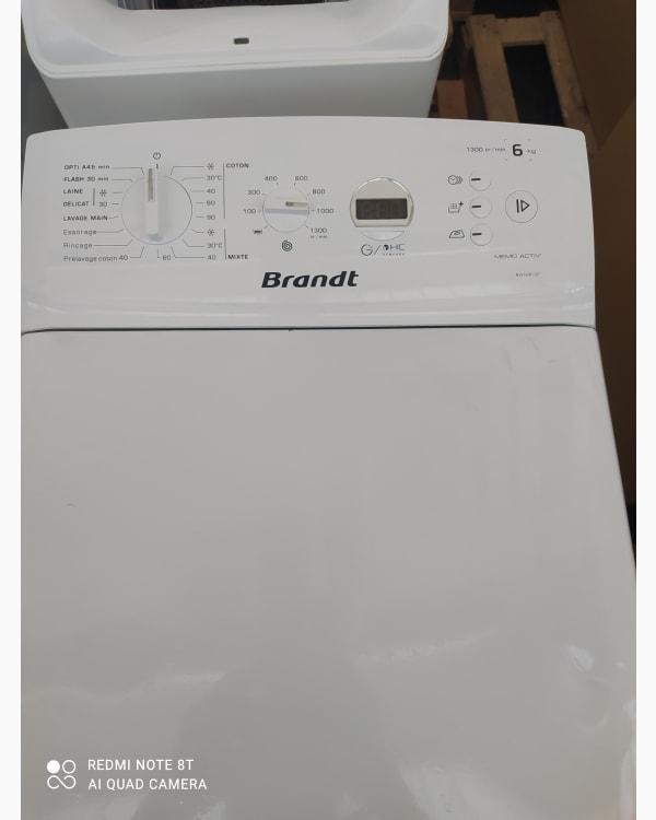 Lave-linge Ouverture par le haut Brandt Bwt2613t-f/01 2
