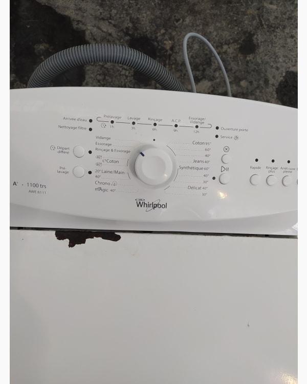 Lave-linge Ouverture par le haut Whirlpool AWE 6111 2