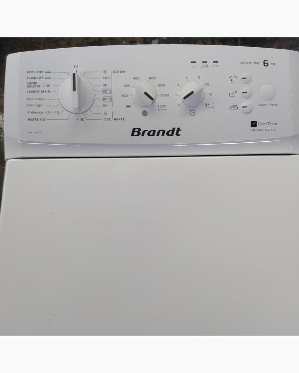 Lave-linge Ouverture par le haut Brandt Bwt3612E-f/02 2