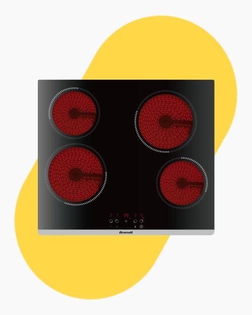 Table de cuisson Plaque vitro-céramique Brandt bpv6420b 1