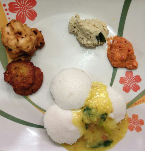 Home made Idli for breakfast