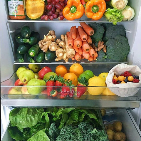 a Fridge loaded with fruits & vegetables