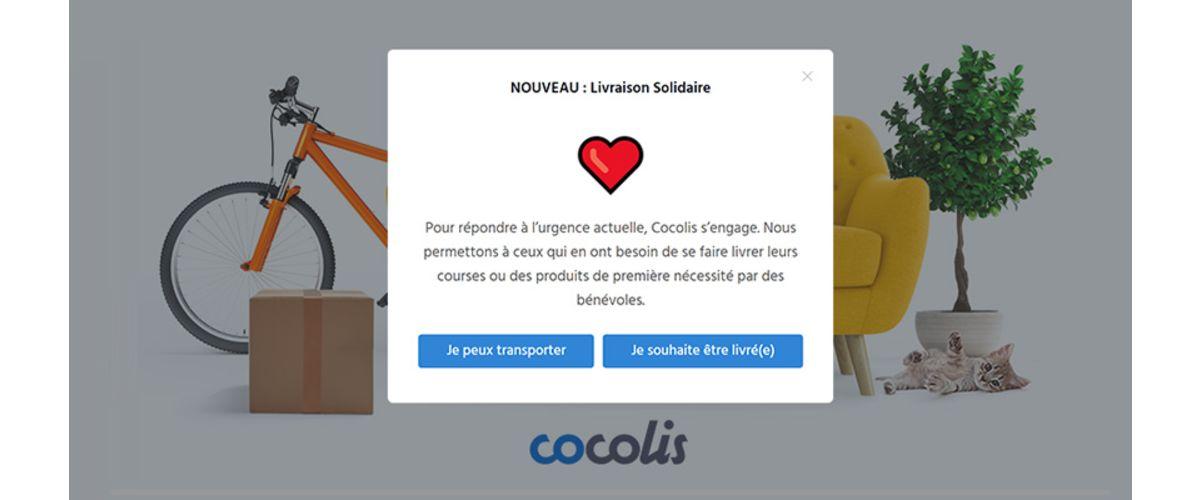 Livraison solidaire sur Cocolis