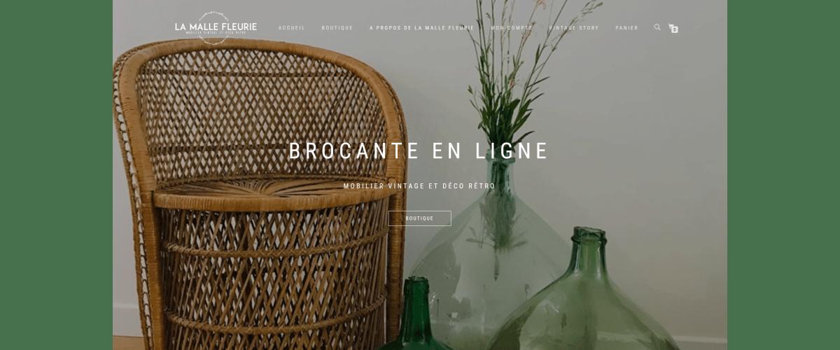Brocante en ligne La Malle Fleurie