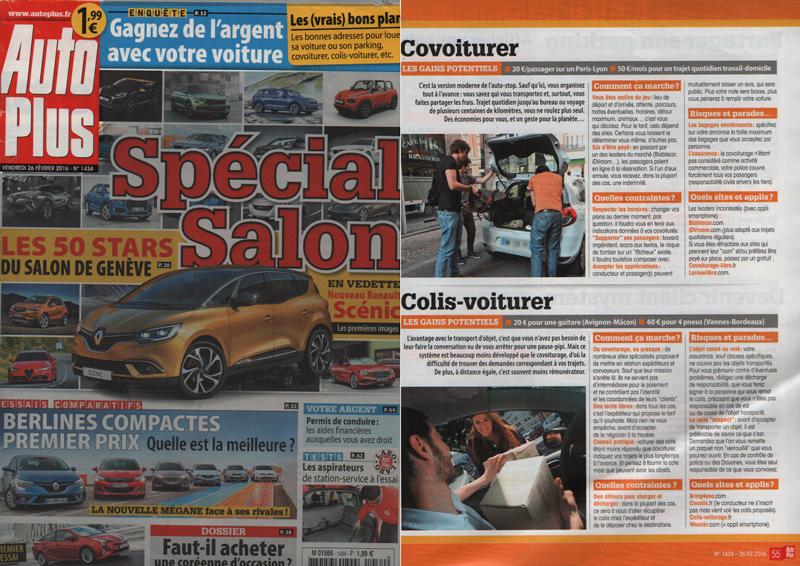 parution presse cocolis magazine auto moto covoiturage de colis