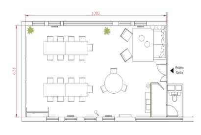 salle de réunion Paris - Plan salle de travail au cadre design - Cocoon Nation - Auguste