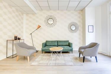 Salle de réunion Paris - Coin salon cosy - Cocoon Mogador - Trinité