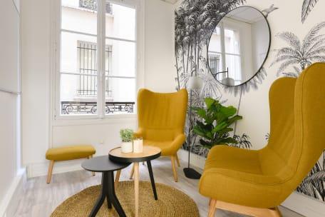 Bureau à l'heure 75008 Paris - Coin salon cosy
