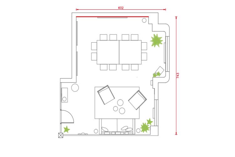 Salle de réunion Paris - Plan 2D - Cocoon Bienfaisance - Goetz