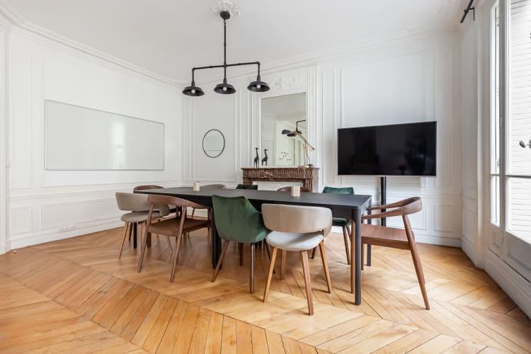 Salle de réunion Paris - réunion, bureau, espace, salle, coaching, à l'heure, cosy, design, Paris, Grenelle - Cocoon Laos - Baratier