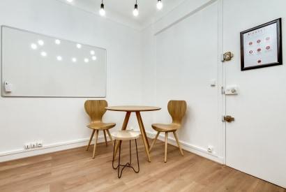 salle de réunion Paris - Bureau a l'heure au calme à la journée - Cocoon Pergolèse - Petit Parc