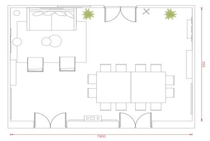 salle de réunion Paris - Plan salle de travail au cadre design - Cocoon Louvre - Emile