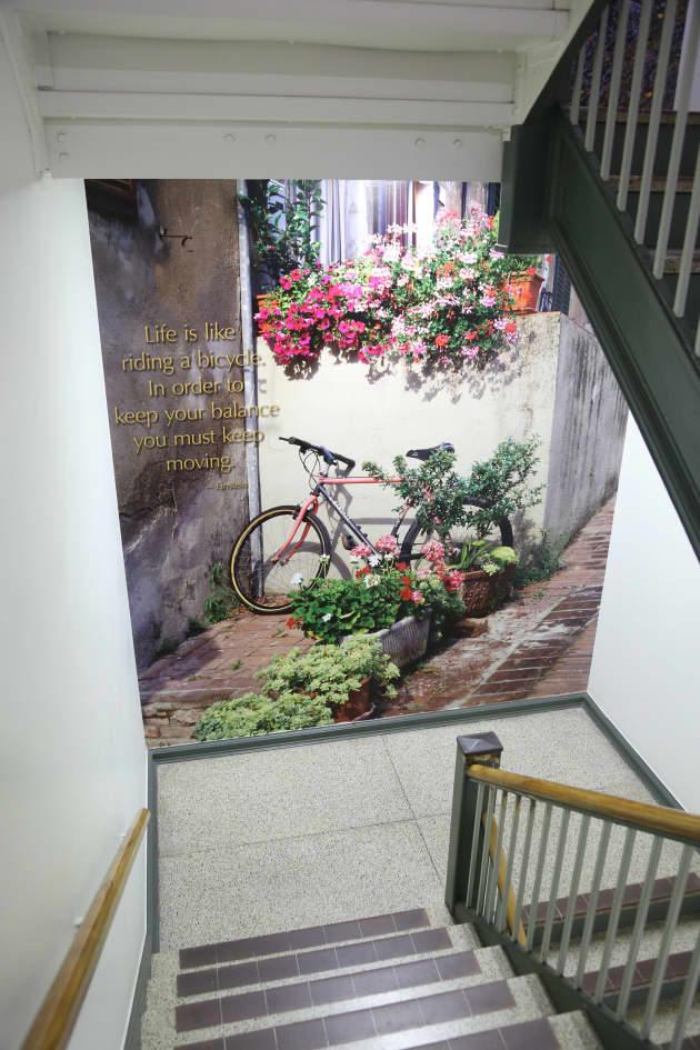 VA Jesse Brown Damen Stairwell