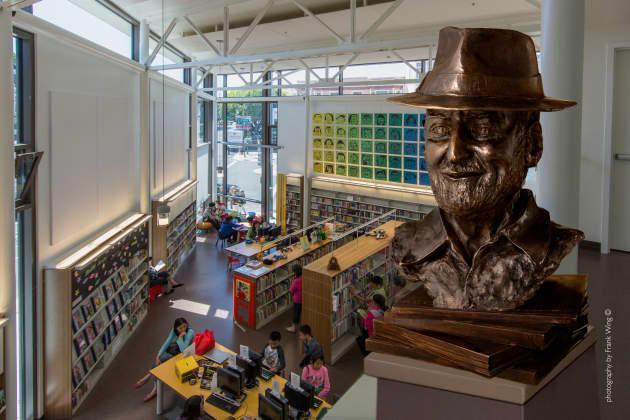 Lawrence Ferlinghetti Bronze Portrait San Francisco Civic Art Collection