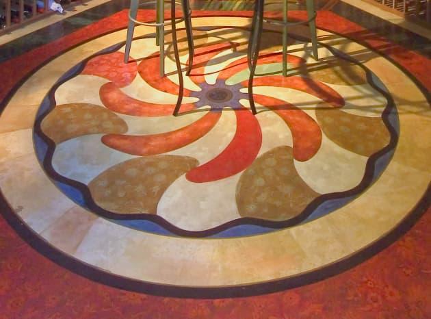 Florentine Rose Floor Installation