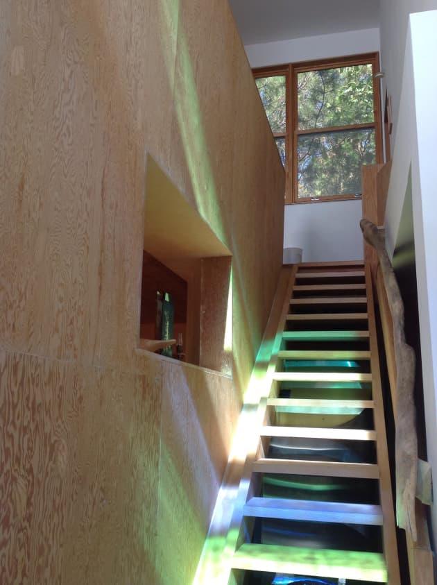 Spiral Arc House Ladder Window