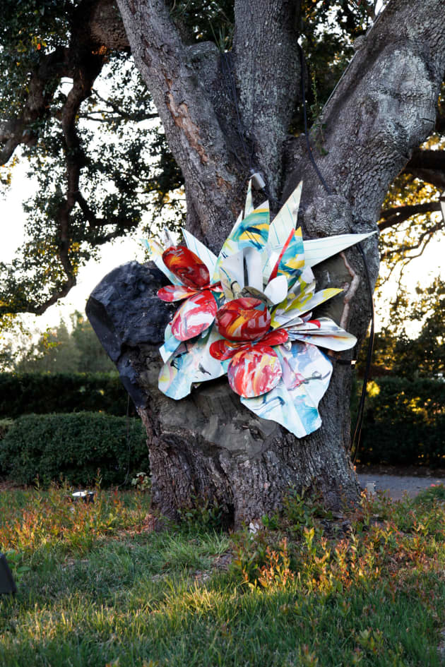 Outdoor Botanical Sculpture