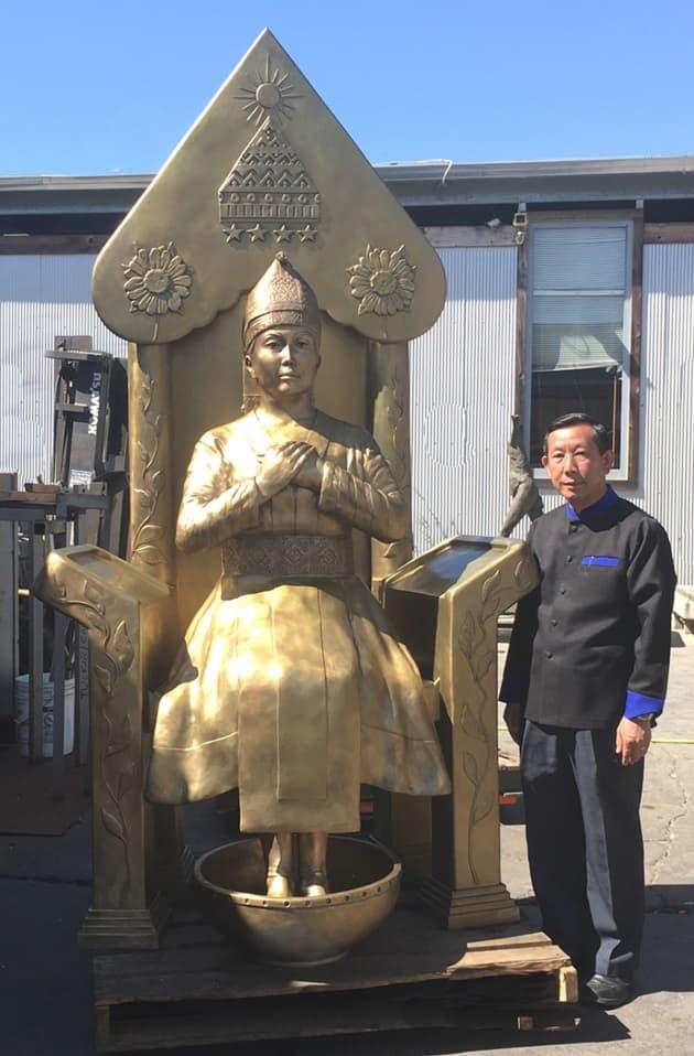 Hmong Temple Bronze Sculpture