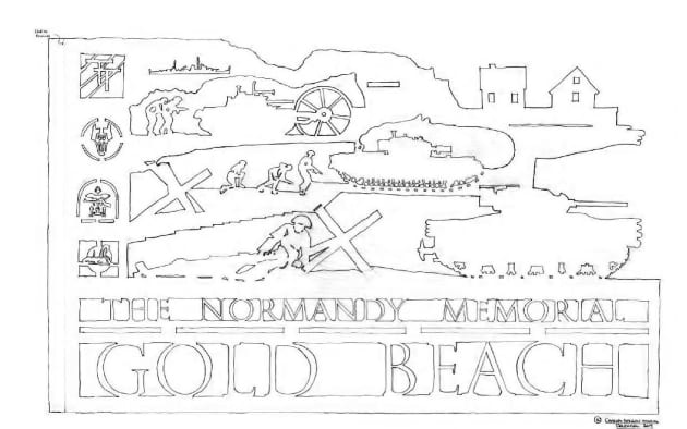 Sculptural Wayfinding Signage for the British Normandy Memorial