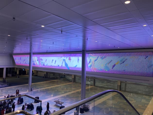 Floating Energy Video Wall
