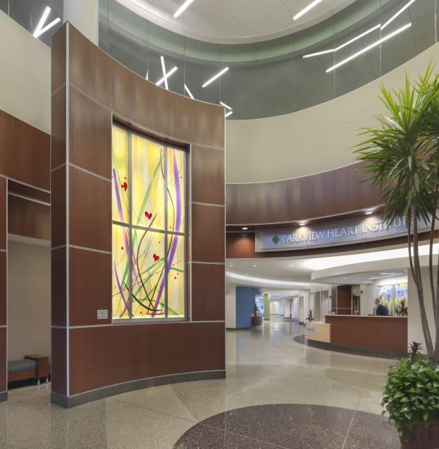 Blown glass murals for Parkview Regional Medical Center